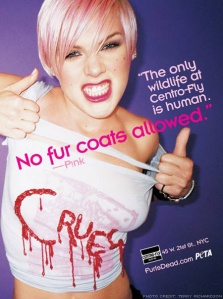 pink against fur peta